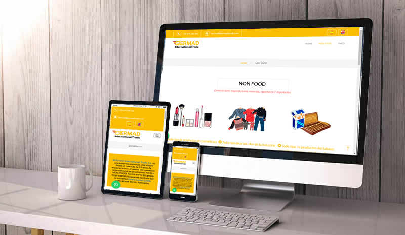 Bootstrap Responsive Web Design BERMAD International Trade