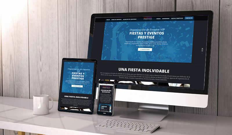 Bootstrap Responsive Web Design Fiestas Y EVENTOS PRESTIGE