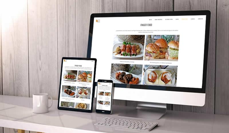 Bootstrap Responsive Web Design Gran Vía catering